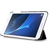 Etui Til Samsung Galaxy Heldekkende etui Tablet Cases Helfarge Hard PU Leather til Tab A 7.0 (2016)