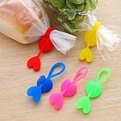 cinta de sellado en forma de corazón de silicona (color al azar)
