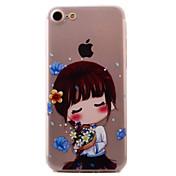 용 패턴 케이스 뒷면 커버 케이스 섹시 레이디 소프트 TPU Apple 아이폰 7 플러스 / 아이폰 (7) / iPhone 6s Plus/6 Plus / iPhone 6s/6 / iPhone SE/5s/5