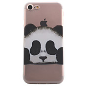 Funda Para Apple iPhone X iPhone 8 Funda iPhone 5 iPhone 6 iPhone 7 Transparente Diseños Funda Trasera Oso Panda Animal Suave TPU para