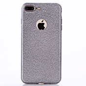 Para Cromado Funda Cubierta Trasera Funda Un Color Suave TPU para Apple iPhone 7 Plus iPhone 7 iPhone 6s Plus/6 Plus iPhone 6s/6