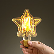 40w e27 스타일 복고풍 산업 백열 백열등 스타 - 모양의 전구