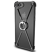 Para Soporte para Anillo Funda Acolchada Funda Un Color Dura Aluminio para Apple iPhone 7 Plus / iPhone 7