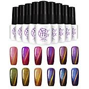 Gel UV para esmalte de uñas 7ml 1 Glitters Clásico Reluciente Brillo y chispa Ligero Empapa de Larga Duración Diario Glitters Clásico