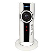 hosafe® 720p wi-fi 180 graders fisheye panaromic vr ip kamera støtte 32gb micro sd kortopptak nattesyn bevegelsesdeteksjon toveis snakk