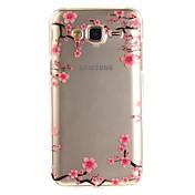 케이스 제품 Samsung Galaxy J5 (2016) J3 (2016) IMD 투명 패턴 뒷면 커버 꽃장식 소프트 TPU 용 J5 (2016) J5 J3 (2016) J3 Grand Prime