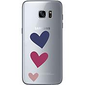 Etui Til Samsung Galaxy S7 edge S7 Ultratynn Gjennomsiktig Mønster Bakdeksel Hjerte Myk TPU til S7 edge S7 S6 edge plus S6 edge S6