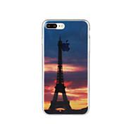 Para Diseños Funda Cubierta Trasera Funda Torre Eiffel Suave TPU para Apple iPhone 7 Plus iPhone 7 iPhone 6s Plus/6 Plus iPhone 6s/6