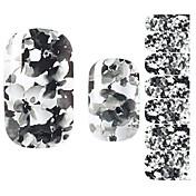 Pegatinas de uñas 3D Plantilla de estampado de uñas Diario Flor Moda Encantador Alta calidad