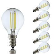 GMY® 6pcs 4W 350-400 lm E14 Bombillas de Filamento LED P45 4 leds COB Blanco Cálido Blanco Fresco AC 100-240 V