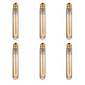 Ecolight™ 6pcs 40W E26/E27 T185 2300 K Bombilla incandescente Vintage Edison AC 220-240V V