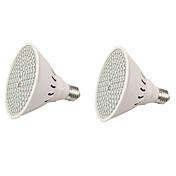 2pcs 6W 600lm E27 Growing Light Bulb 126 Cuentas LED SMD 3528 Azul Rojo 85-265V