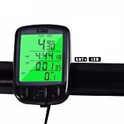 사이클링 산악 자전거 자전거 디지털 장비 Av - 평균 속도 주행 기록계 SPD - 현재 속도 주행 거리계(오도미터) 백라이트 Tme - Lapsed Time 블랙 블루 옐로 ABS