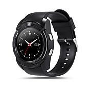 kimlink® v8 smartwatch 카메라 터치 스크린 핸즈프리 통화 보수계 원격 제어 피트니스 트래커