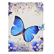 Funda Para Apple iPad 4/3/2 iPad Air 2 iPad Air con Soporte Diseños Funda de Cuerpo Entero Mariposa Dura Cuero de PU para iPad 4/3/2 iPad