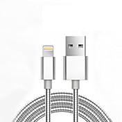 USB 2.0 Adaptador de cable USB Normal Trenzado Cable Para iPad Apple iPhone 98 cm Aluminio Metal