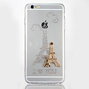 용 크리스탈 DIY 케이스 뒷면 커버 케이스 에펠탑 하드 아크릴 용 Apple 아이폰 7 플러스 아이폰 (7) iPhone 6s Plus iPhone 6 Plus iPhone 6s 아이폰 6