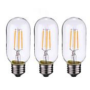 ONDENN 3pcs 4 W 500-600 lm B22 / E26 / E27 Bombillas de Filamento LED 4 Cuentas LED COB Regulable Blanco Cálido 220-240 V / 110-130 V / 3 piezas / Cañas / CE