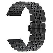 Para el engranaje samsung s3 frontera / engranaje clásico 22m m 316l venda del reloj del acero inoxidable