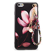 Etui Til Apple iPhone 7 Plus iPhone 7 Mønster Inngravert GDS Bakdeksel Blomsternål i krystall Myk TPU til iPhone 7 Plus iPhone 7 iPhone
