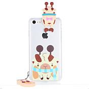 Para Transparente Diseños Funda Cubierta Trasera Funda Dibujo 3D Dura Policarbonato para AppleiPhone 7 Plus iPhone 7 iPhone 6s Plus