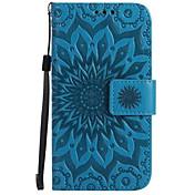 Etui Til Samsung Galaxy J7 Prime J5 Prime Kortholder Lommebok med stativ Flipp Inngravert Heldekkende etui Blomsternål i krystall Hard PU