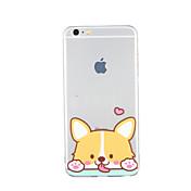 Para Diseños Funda Cubierta Trasera Funda Perro Suave TPU para Apple iPhone 6s Plus iPhone 6 Plus iPhone 6s iphone 6 iPhone SE/5s iPhone 5