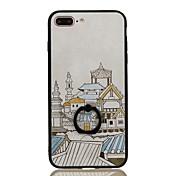 Para Soporte para Anillo Diseños Funda Cubierta Trasera Funda Ciudad Dura Policarbonato para Apple iPhone 7 Plus iPhone 7