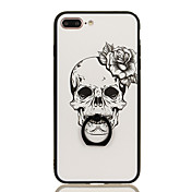 Para Soporte para Anillo Diseños Funda Cubierta Trasera Funda Calavera Dura Policarbonato para Apple iPhone 7 Plus iPhone 7