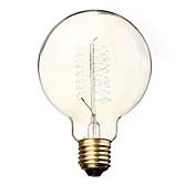 BriLight 1pc 40W E27 E26/E27 G95 Blanco Cálido 2300 K Bombilla incandescente Vintage Edison AC 110-130V AC 220-240V V