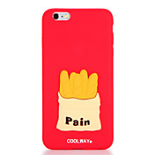 Para Diseños Funda Cubierta Trasera Funda Comida Suave Silicona para AppleiPhone 7 Plus iPhone 7 iPhone 6s Plus iPhone 6 Plus iPhone 6s