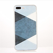 Para Diseños Funda Cubierta Trasera Funda Diseño Geométrico Suave TPU para AppleiPhone 7 Plus iPhone 7 iPhone 6s Plus iPhone 6 Plus