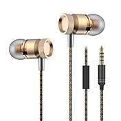En el oido Con Cable Auriculares Aluminum Alloy Teléfono Móvil Auricular Con Micrófono Auriculares