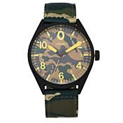 SINOBI Hombre Reloj Deportivo Reloj Militar Reloj de Moda Cuarzo Resistente al Agua Tejido Banda Casual Verde Verde Cazador