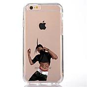 Etui Til Apple iPhone 7 Plus iPhone 7 Gjennomsiktig Mønster Bakdeksel Tegneserie Myk TPU til iPhone 7 Plus iPhone 7 iPhone 6s Plus iPhone
