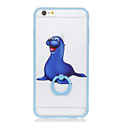 Funda Para Apple Soporte para Anillo Diseños Funda Trasera Animal Dura ordenador personal para iPhone 6s Plus iPhone 6s iPhone 6 Plus