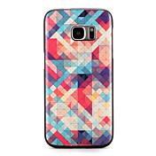 Funda Para Samsung Galaxy S7 edge S7 Diseños Cubierta Trasera Diseño Geométrico Suave TPU para S7 edge S7