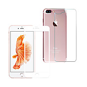 Skjermbeskytter Apple til iPhone 8 Plus Herdet Glass 1 stk Front- og bakbeskyttelse 3D bøyd kant Anti-fingeravtrykk Motstår Risser