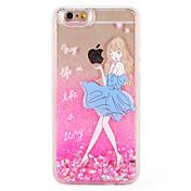 케이스 제품 Apple iPhone 7 Plus iPhone 7 플로잉 리퀴드 패턴 뒷면 커버 심장 섹시 레이디 글리터 샤인 하드 PC 용 iPhone 7 Plus iPhone 7 iPhone 6s Plus iPhone 6s iPhone 6