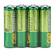Batería estupenda del carbón de la célula verde del gp batería recargable 15g r6p aa 1.5v