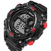 Herre Armbåndsur Smartklokke Militærklokke Moteklokke Sportsklokke Digital Kalender LED Selvlysende Stoppeklokke Treningsmålere Silikon