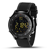 Hombre Digital Reloj elegante Chino Calendario Cronógrafo Monitor de Pulso Cardiaco Resistente al Agua Control remoto Podómetros