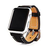 Ver Banda para Apple Watch Series 3 / 2 / 1 Apple Correa de Muñeca Hebilla Clásica Cuero Auténtico