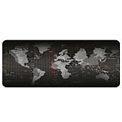 alfombrilla de ráton - cojín de escritorio grande portátil - alfombrilla de ráton antideslizante para mapa del mundo (30x80x0.2cm)
