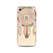 Etui Til Apple iPhone X iPhone 8 Plus Gjennomsiktig Mønster Bakdeksel Drømmefanger Myk TPU til iPhone X iPhone 8 Plus iPhone 8 iPhone 7
