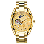 Hombre Reloj Esqueleto Reloj de Moda El reloj mecánico Reloj Deportivo Chino Cuerda Automática Calendario Resistente al Agua Luminoso