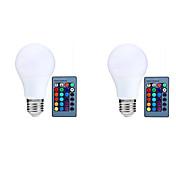 10W 800 lm E27 Bombillas LED Inteligentes A70 25 leds SMD 5050 Con Sensor Sensor de infrarrojos Regulable Control Remoto Decorativa RGB