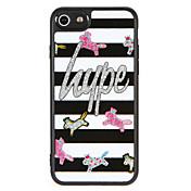 케이스 제품 Apple iPhone 7 Plus iPhone 7 패턴 뒷면 커버 단어 / 문구 글리터 샤인 동물 하드 PC 용 iPhone 7 Plus iPhone 7 iPhone 6s Plus iPhone 6s iPhone 6 Plus