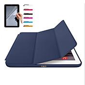 애플 ipad 프로 10.5 ipad (2017) 케이스 커버 마그네틱 자동 수면 전신 케이스 솔리드 컬러 하드 사과 ipad 공기 2 ipad air ipad 2 3 4