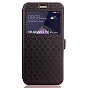 Funda Para Huawei P9 Lite Huawei Huawei P8 Lite Soporte de Coche con Soporte Flip En Relieve Funda de Cuerpo Entero Diseño Geométrico Dura